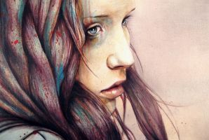 'The Girl and the Owl' Detail by MichaelShapcott