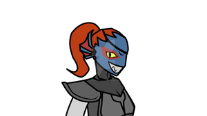 Undyne by Fratter-Waan