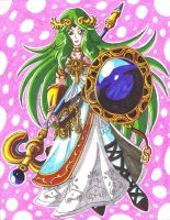 Request 02 Eduell97: Lady Palutena by d13mon-studios