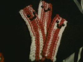 Crochet Bacon Strips by milleniumocarina