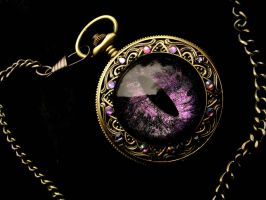 Sovereign Deluxe Pocket Watch - Color Shift Purple by LadyPirotessa