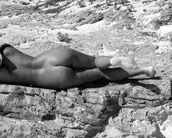 Nude On the BEach IV by Grey8Wolf