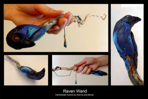 Raven Wand by WormsandBones