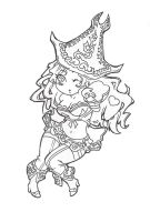 Chibi Miss Fortune [lineart] by SpigaRose