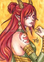 aceo - ember by demon-rae