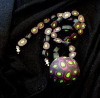 Purple Orb Necklace by Flocculus