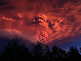 Chile Volcano Ash Plume by BlueB52