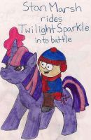 MLP - South Park: Stan and Twilight by bowlingfordisco