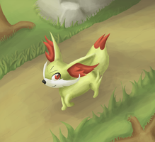 a Fennekin appears by May-Lene