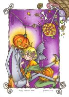 .Trick or treat, Mr. Pumpkin?. by Mosky-chan