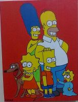 Simpsons painting - 2012 by andrecamilo20