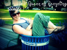 Queen of Recycling by Dark-Sapphire-Lotus