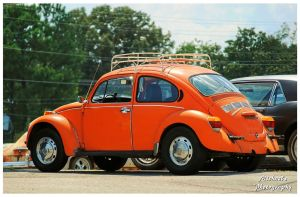 A UT Orange VW Beetle by TheMan268