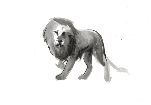 Ink Lion by Kiulani