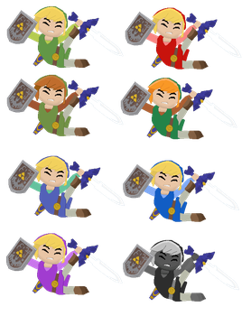 Toon Link Wall Hit/KO Colors by Droe747
