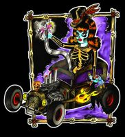 Curse of the Voodoo Hotrod by MummysLittleMonster