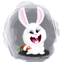 Snowball Bunny by romelfrost