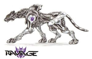 Not Mine 3 Ravage as a Zoid by blackdragon21