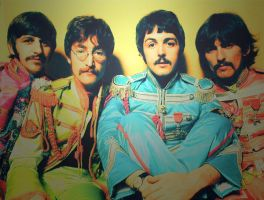 Sgt. Pepper - The Beatles by elooly