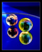 Balls in blue by kanes