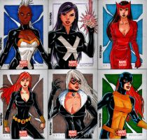 Marvel NOW Sketch Cards Set 6 by wardogs101