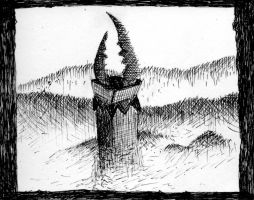 Inktober 2016 #7: Tower by Yesmouse