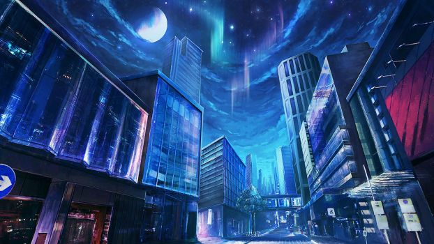 The other conner of city: night by mrainbowwj