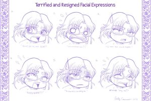 Robyn's Terrified and Resigned Facial Expressions by OtakuEC
