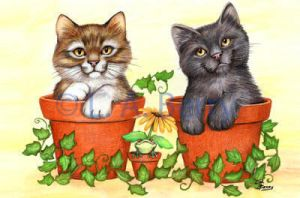 Potted Pals by bigcatdesigns