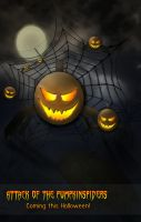Attack of the Pumpkin Spiders by Jessi2012