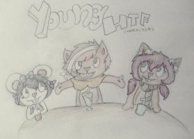 Cindy the mouse, Michi the fox, Racky the raccoon by Happy-Pancakes