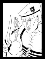 Deadly Krauser - Inks by Agent-Foo