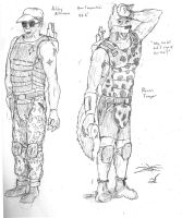 Arklay and Recon by Mars-Walker