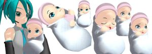 MMD Newborn Baby Model Download by SachiShirakawa
