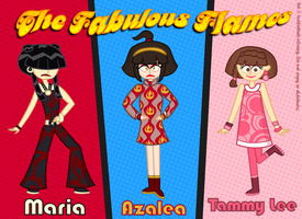 The Fabulous Flames are GROOVY by MU-Cheer-Girl