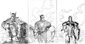 AVENGERS THREE by JMan-3H