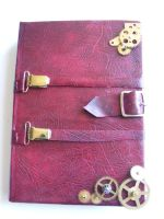 Moving clockwork sketchbook by Sombrewood
