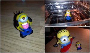 Minion Despicable me - Polymer Clay by Rommeu