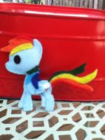 Rainbow Dash plush thing by DeadlyComics