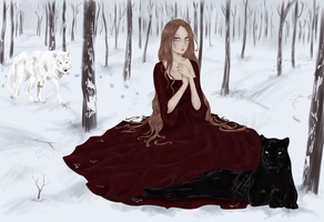 :Commission: Wine and snow by Niranis