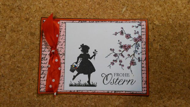 Eastercard  Girl with flower by yosimite
