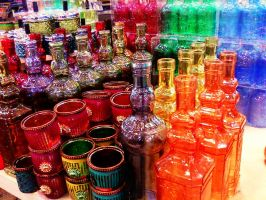colors bottles by Maleiva