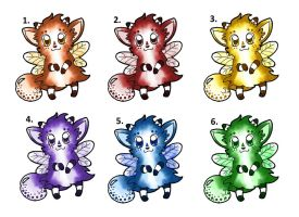 Cheap adoptable fluffy fairy things by Wollfisch