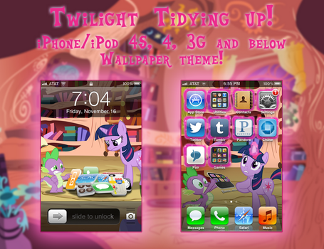 Twilight Tidying up! iPhone 4S/3G Wallpaper Theme! by trebory6