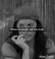 Mark Twain on telling the truth by JanetAteHer