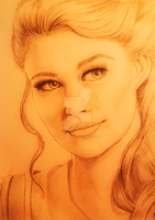 OUAT - Belle | SKETCH A3 by AnimeFreak-Denise