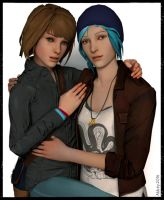 Chloe and Max portrait by Abbeysisland