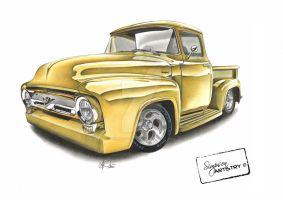 1956 Ford F100 by SIMPSONARTISTRY