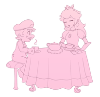 Tea Time lineart by littlemiss-princess