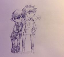Jack Frost and Hiccup by saeru-bleuts